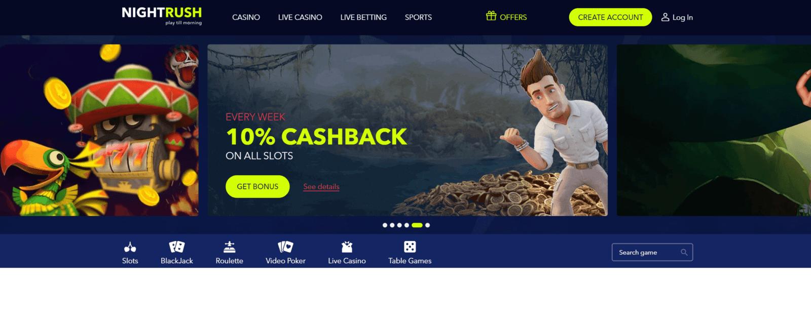 Nightrush - Online Casino