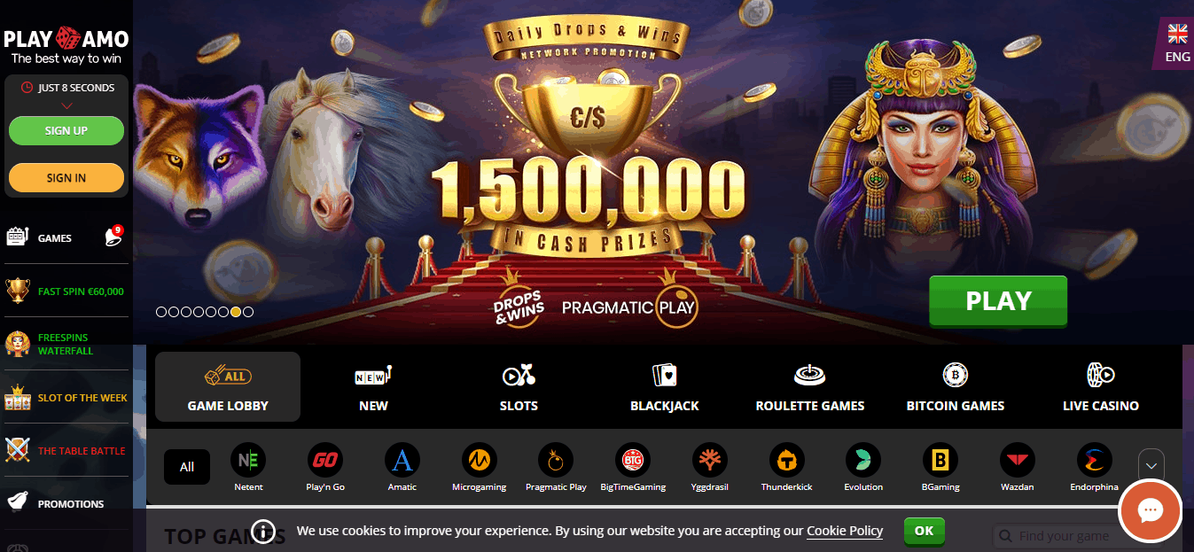 Playamo - online slots and casino games
