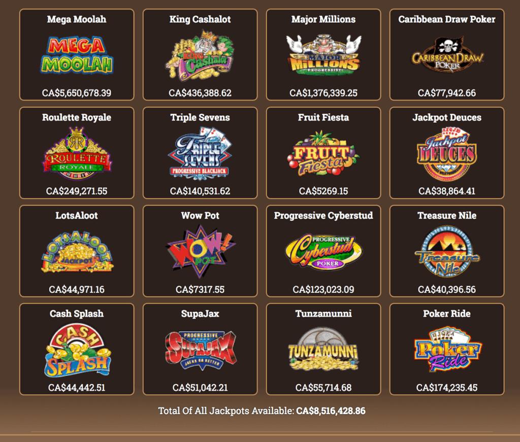 Yukon-Gold-Casino-Game-selection