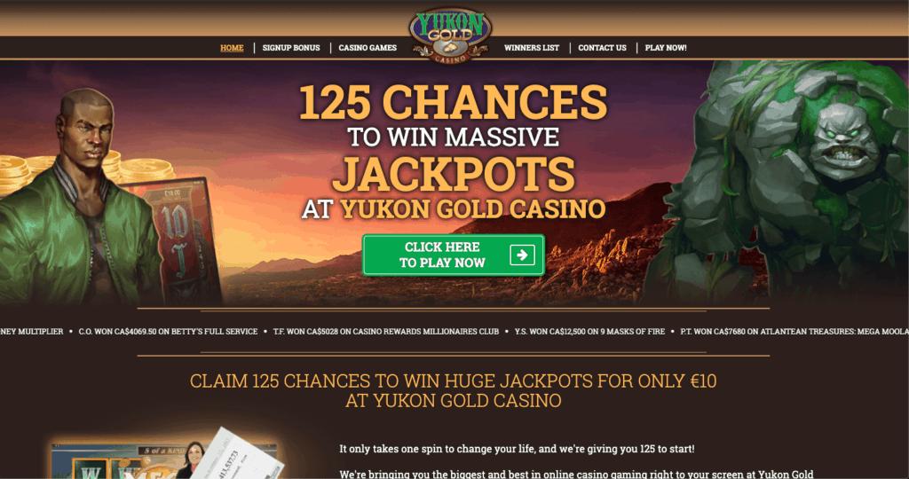 Yukon Gold Online Casino - Lobby
