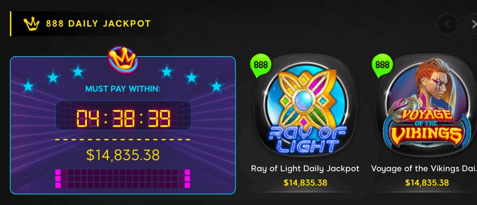 888 Online Casino games