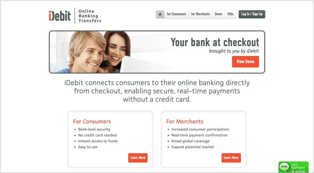 IMG - iDebit - Good payment method at Online Casinos