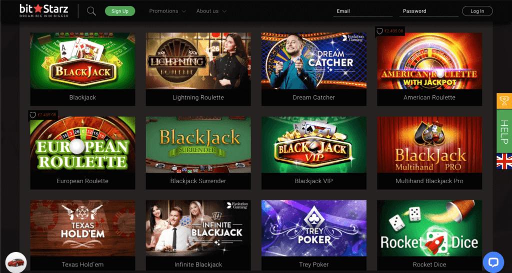 Bitstarz Canadian online casino - Table Games -