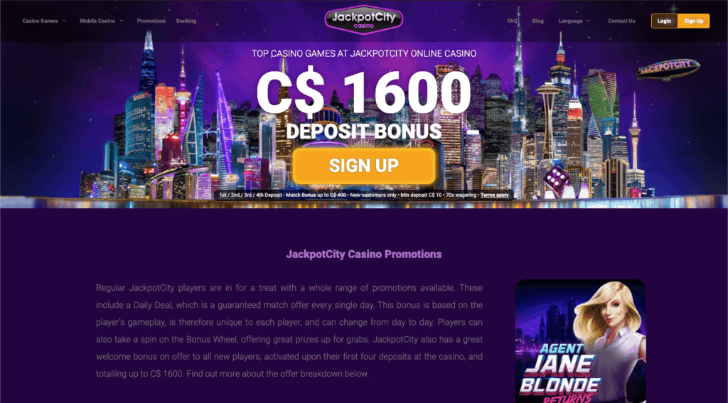 IMG - JackpotCity More Promotions