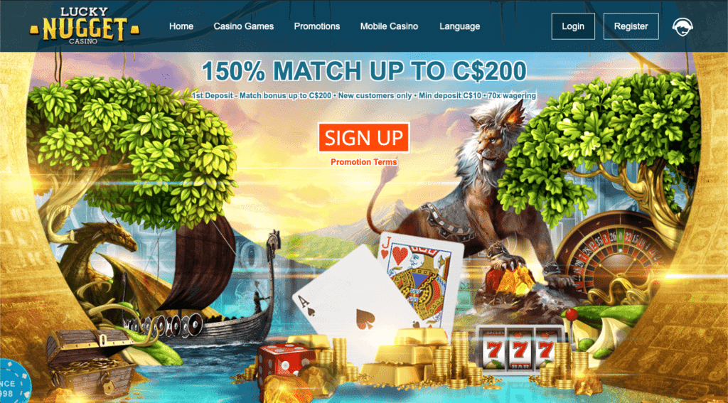 IMG - Lucky Nugget Online Casino 150 % Match up to C$200