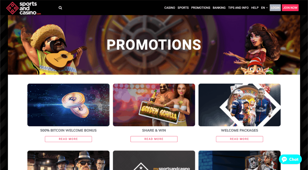 IMG - SportsandCasino.com - Promotions